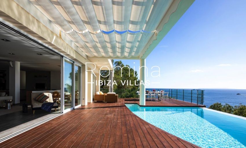 villa sedna ibiza-1pool terrace dininga rea sea view2