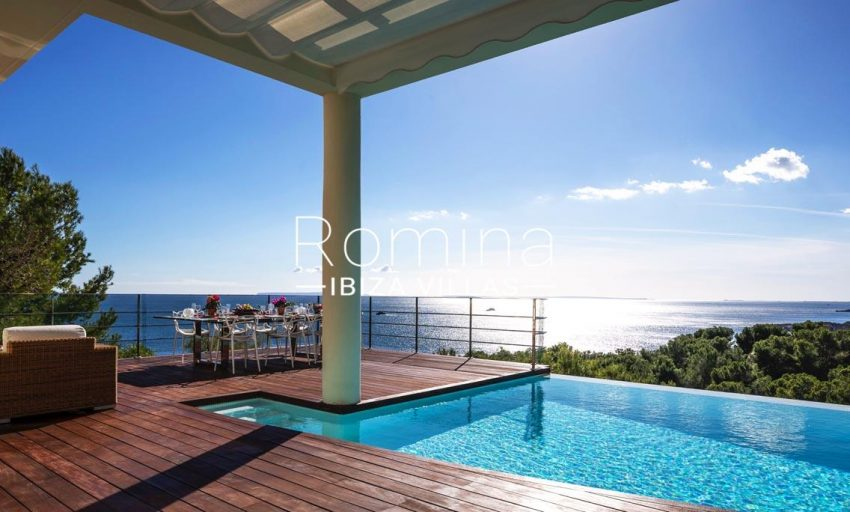 villa sedna ibiza-1pool terrace sea views