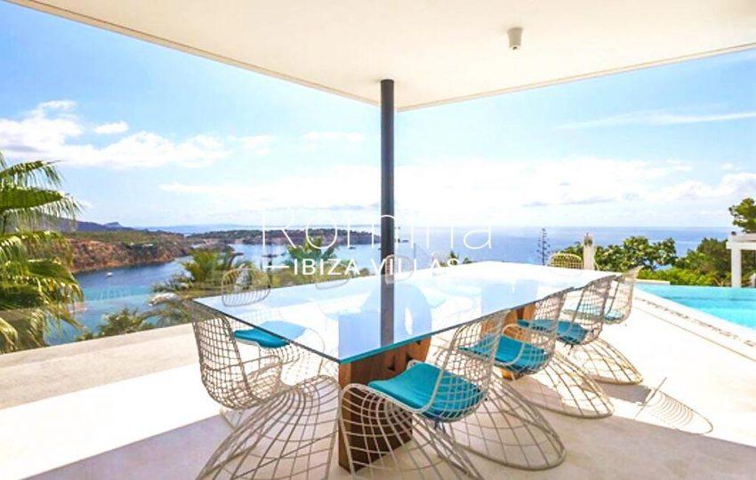 villa ada ibiza-1terrace diningarea sea view