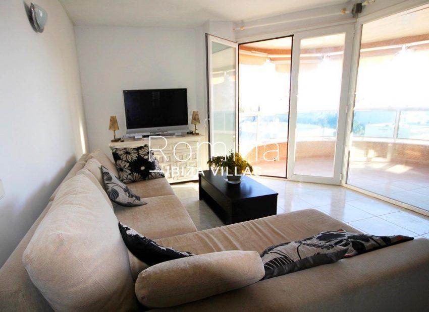 atico villa ibiza-3living room terrace
