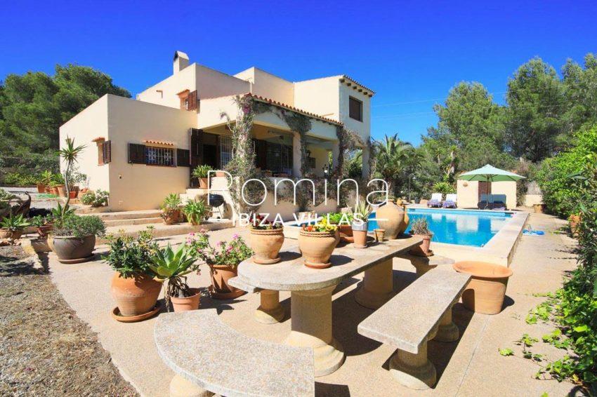 casa caliza ibiza-2pool terraces