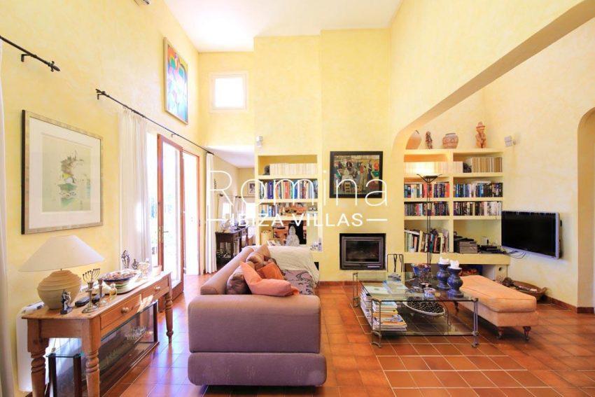 casa caliza ibiza-3living room fireplace