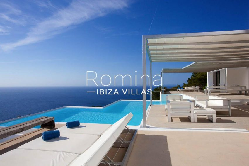 villa agapanthe ibiza-1terraces lounge dining area sea view