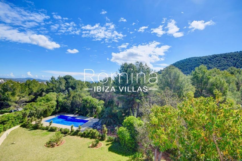villa aria ibiza-1garden pool view hills