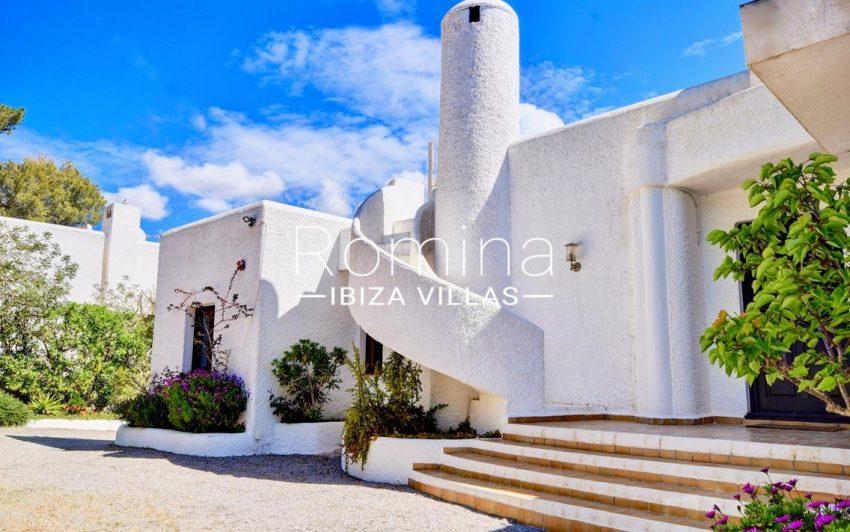 villa aria ibiza-2entrance facade2