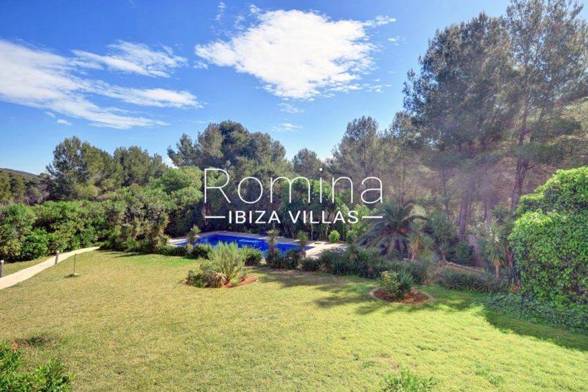 villa aria ibiza-2pool garden trees
