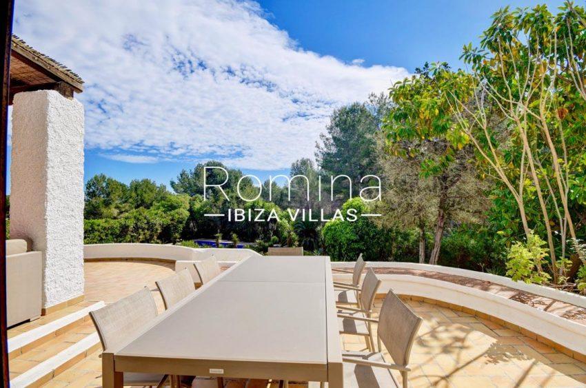 villa aria ibiza-2terrace dining area