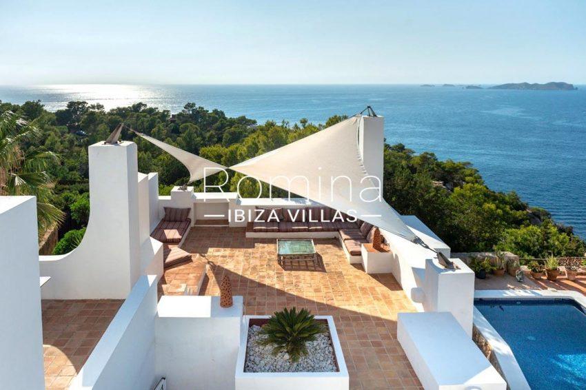 villa artemis ibiza-1chill out terrace sea view