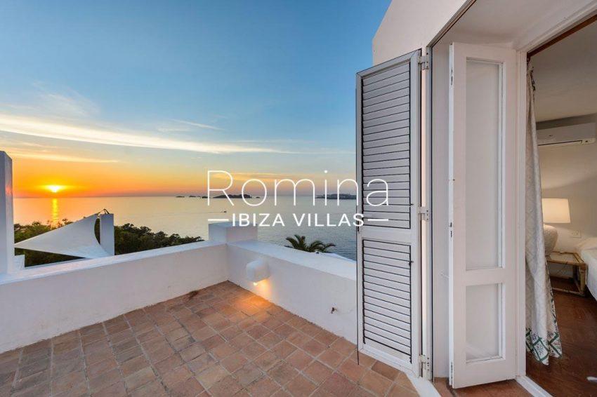 villa artemis ibiza-1terrace bedroom1 sea view sunset