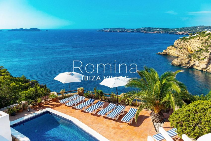 villa artemis ibiza-1terrace pool sea view2