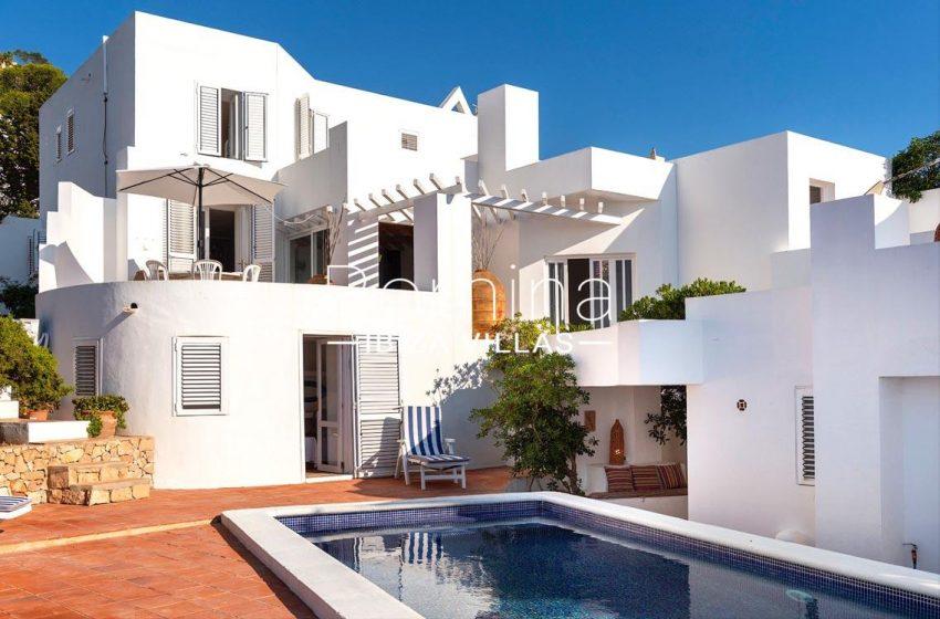 villa artemis ibiza-2pool facade