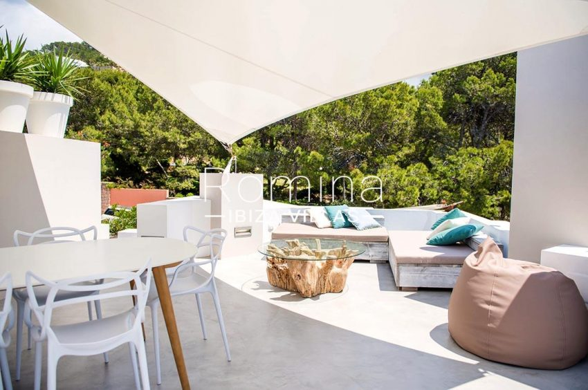 villa aurelia ibiza-2terrace saillounge dining area