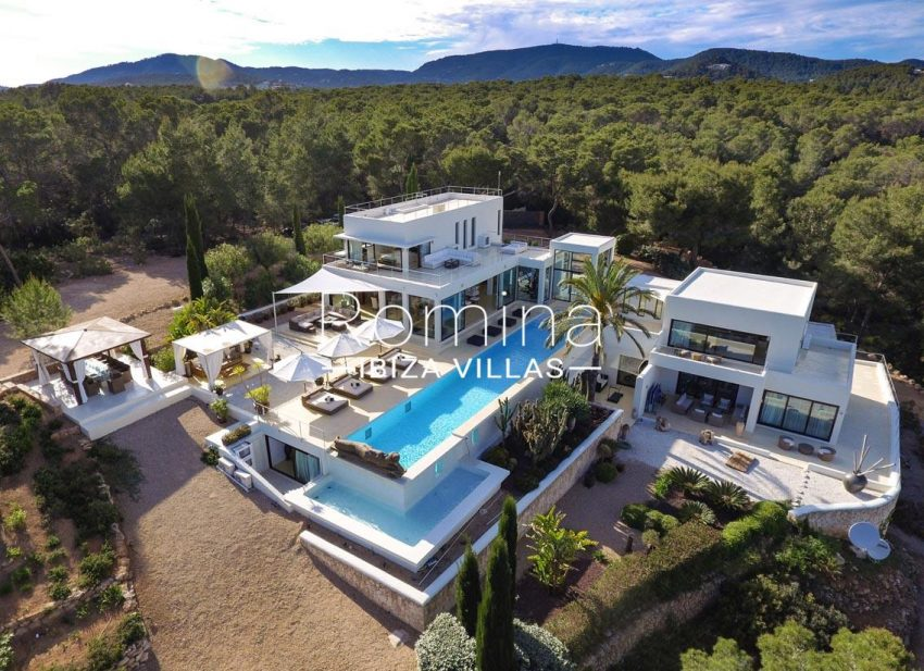 villa blue bay ibiza-2house pool garden