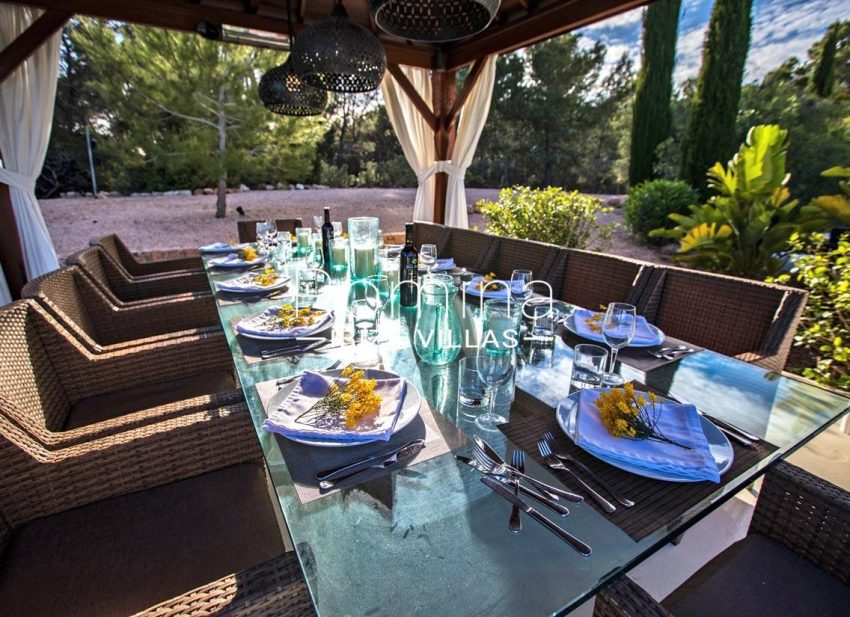 villa blue bay ibiza-2terrace dining area