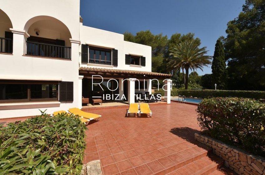 villa camps ibiza-2facade terrace pool
