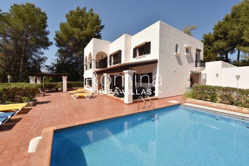 villa camps ibiza-2pool facade