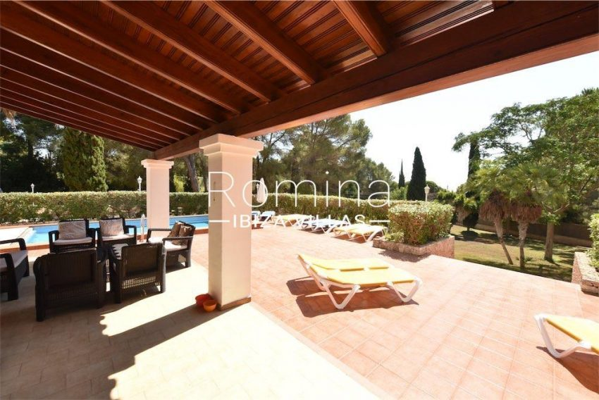 villa camps ibiza-2porch sittinga rea pool