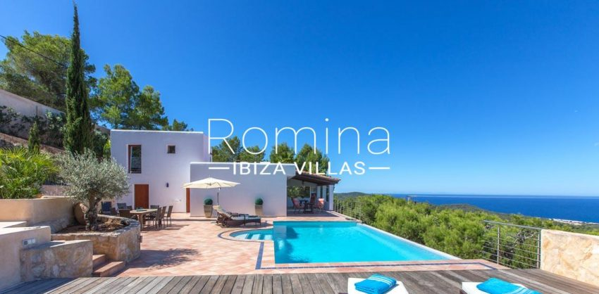 villa miki ibiza-1pool terrace houe sea view2