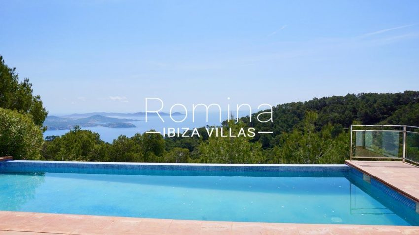 villa mirador ibiza-1pool sea view4p