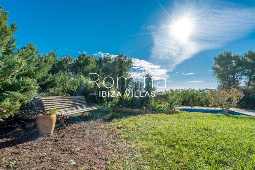casa danny ibiza-2pool garden bench