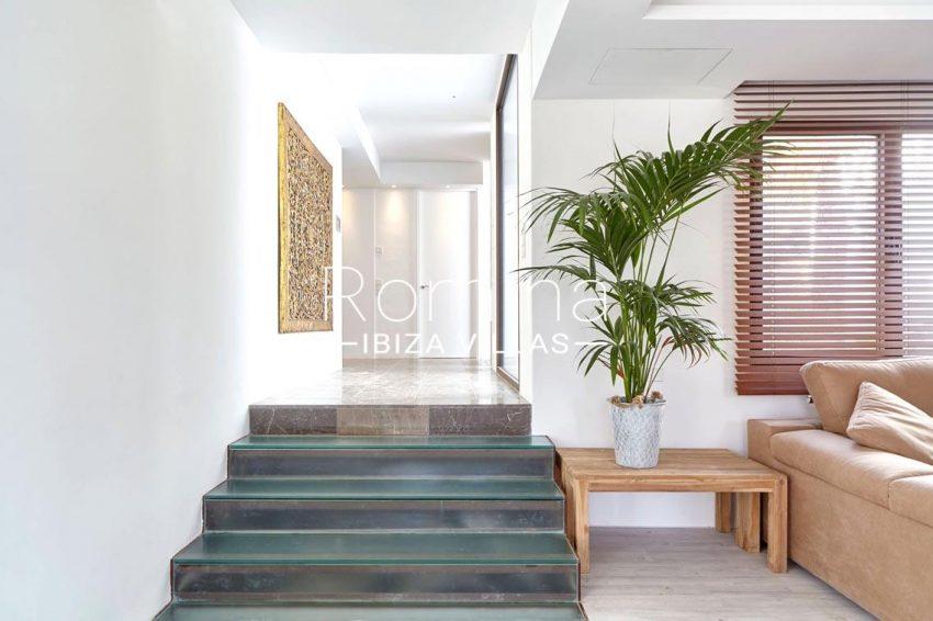 villa esmeralda ibiza-3living room stairs