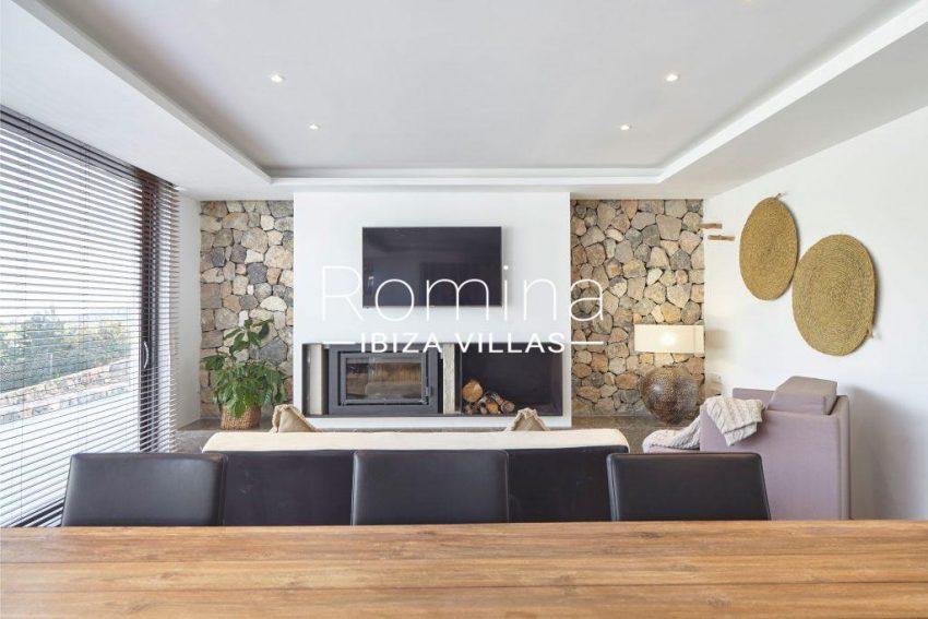 villa esmeralda ibiza-3zdining area fireplace2