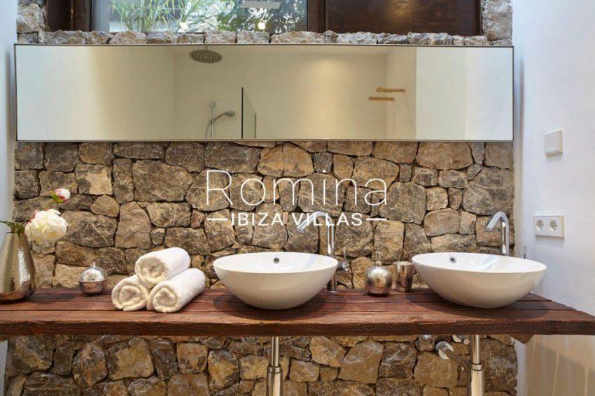 villa esmeralda ibiza-5stone sinks stone wall