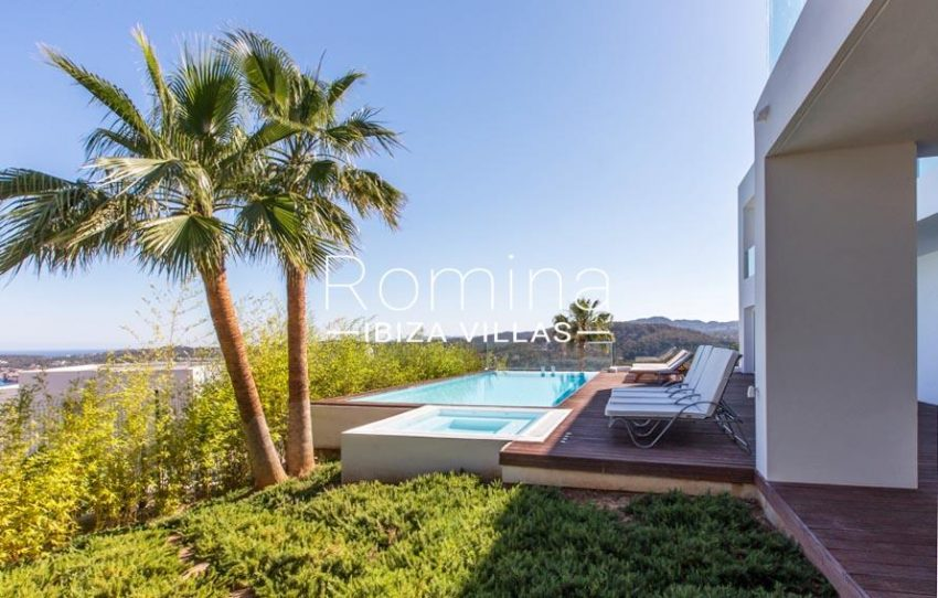 villa lince ibiza-1garden pool sea view