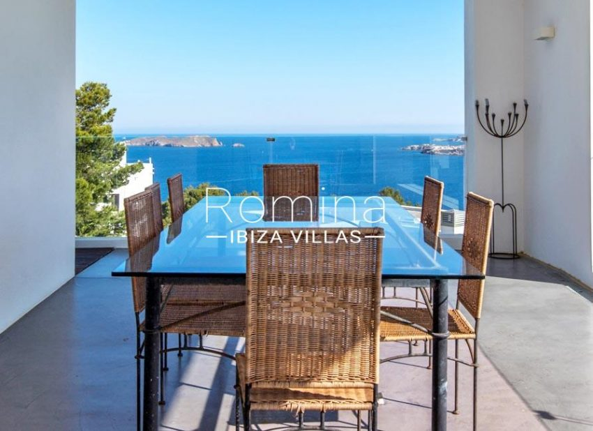 villa lince ibiza-2dining area sea view