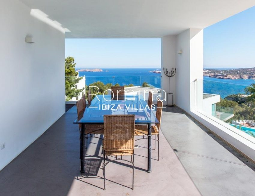 villa lince ibiza-2dining area sea view3