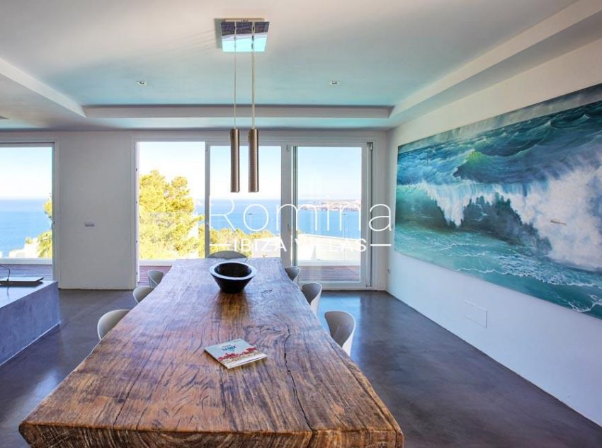 villa lince ibiza-3zdining room sea view