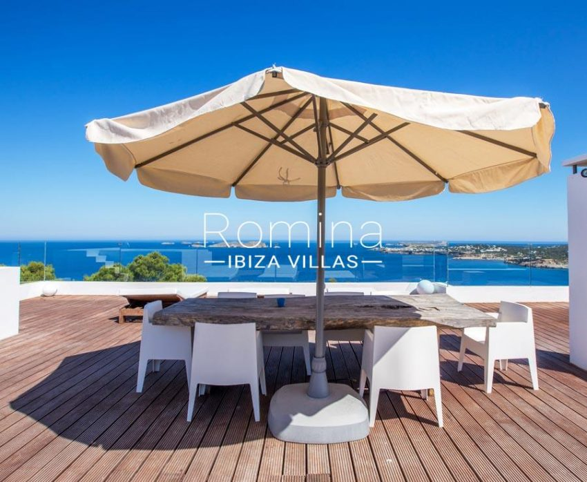 villa moli ibiza-1terrace dining area sea view