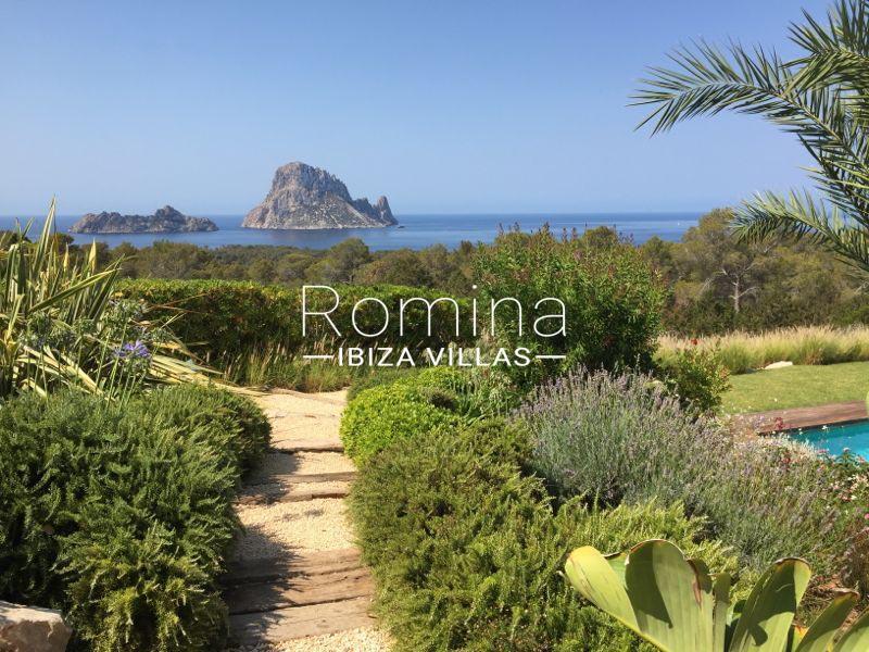 villa namaste ibiza-1garden sea view es vedra