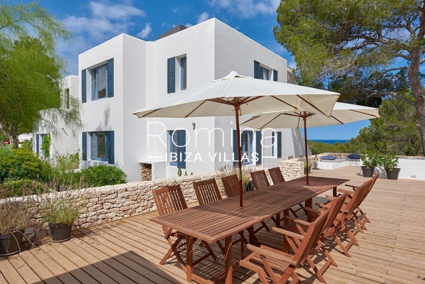 villa punta galera ibiza-1terrace dining area sea view
