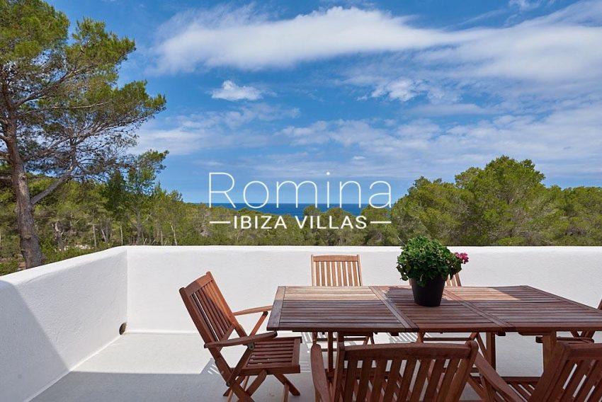 villa punta galera ibiza-1upper terrace sea view