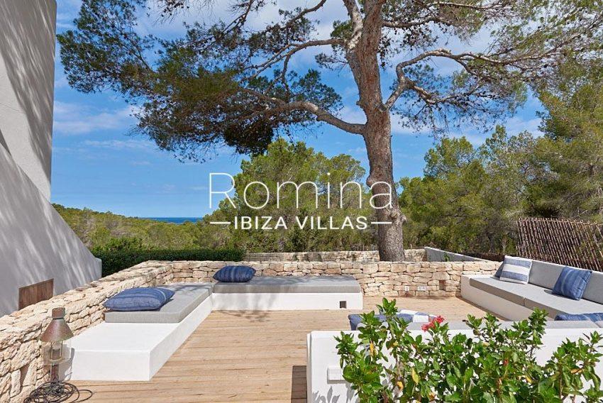 villa punta galera ibiza-1wooden terrace sea view