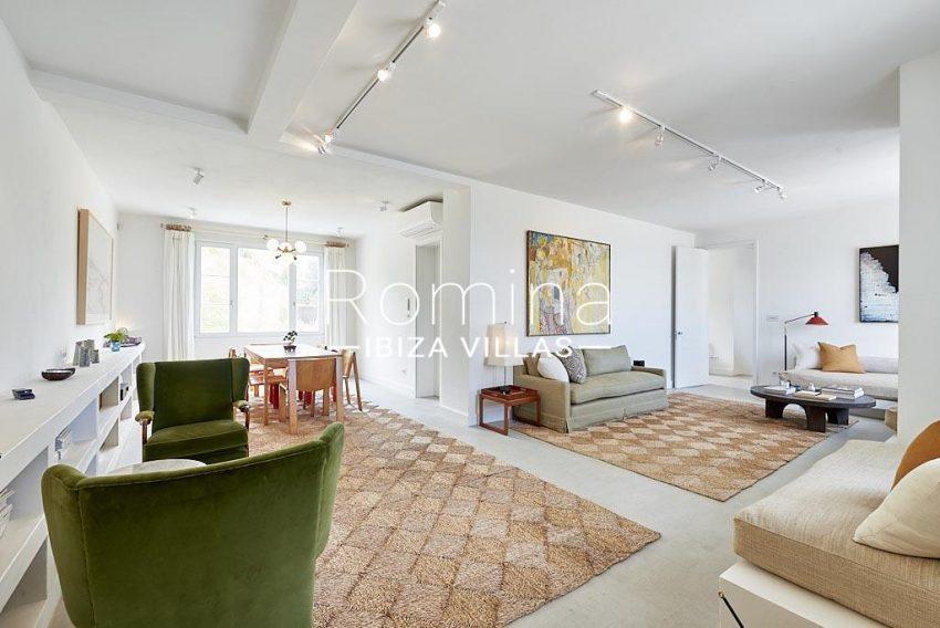 villa punta galera ibiza-3living dining room upstairs
