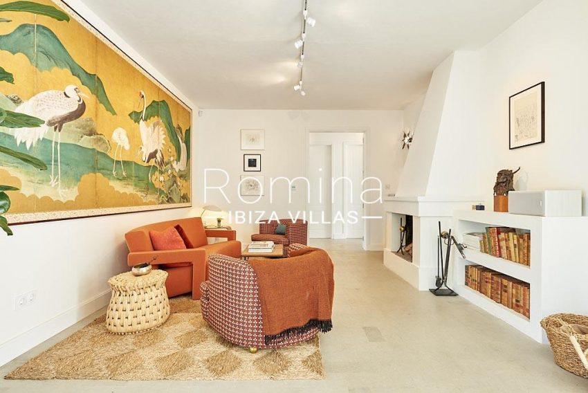 villa punta galera ibiza-3living room fireplace2