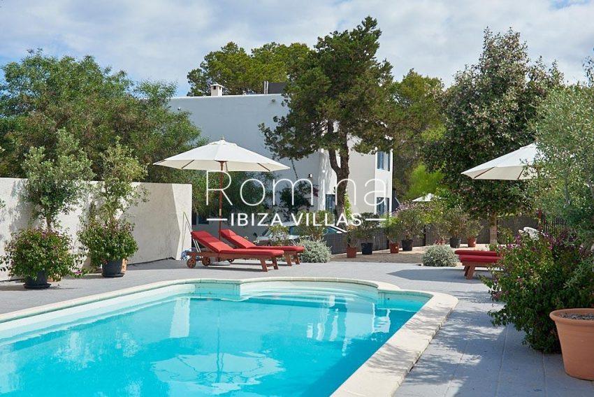 villa punta galera ibiza-pool terraces