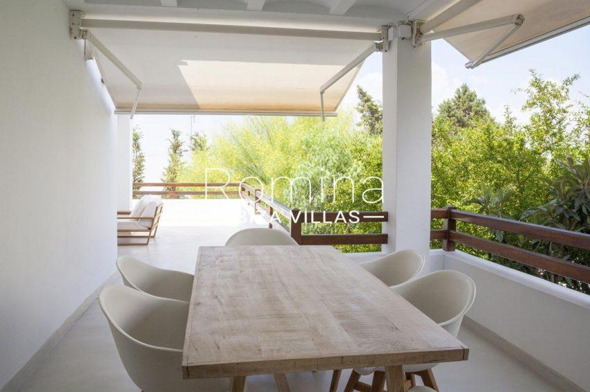 villa topaze ibiza-2terrace dining area