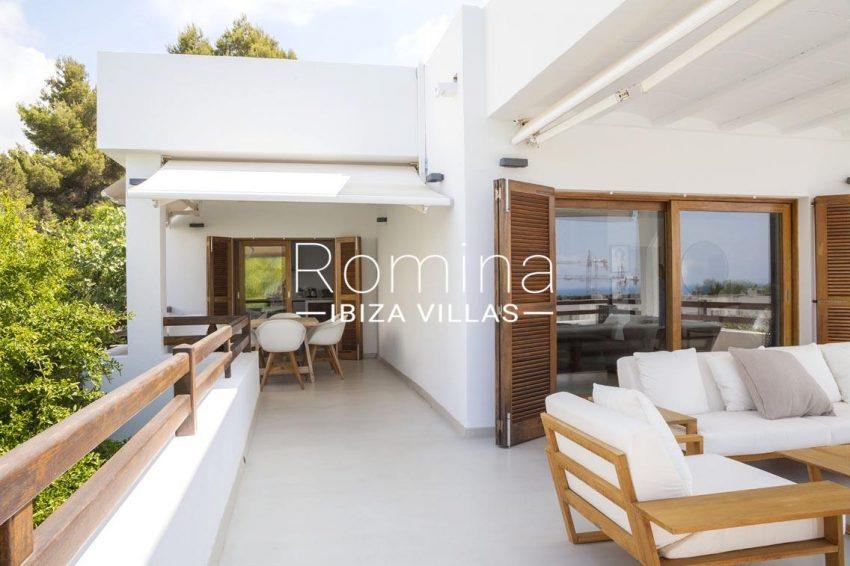 villa topaze ibiza-2terrace living diningarea