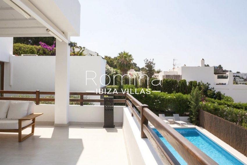 villa topaze ibiza-2upper terrace pool