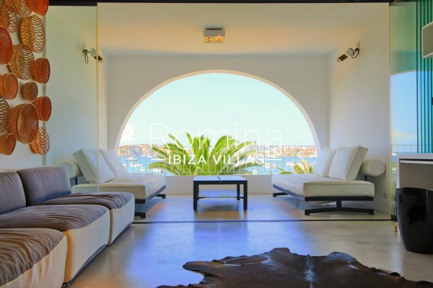 apto aqua marine ibiza-3living room terrace sea view