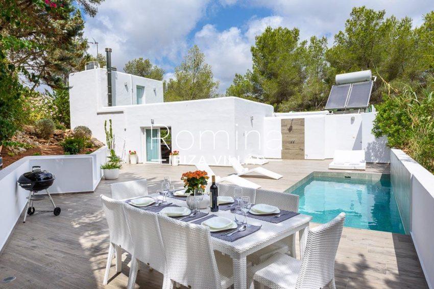 villa sa calma ibiza-2pool terrace dining area2