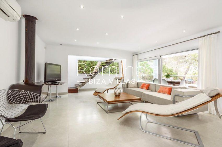 villa sa calma ibiza-3living room fireplace2