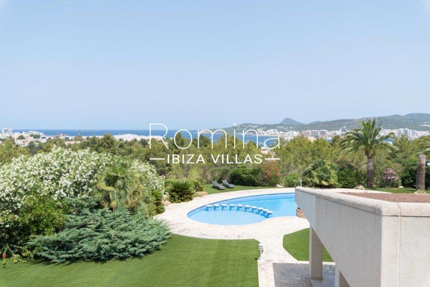 villa sommer ibiza-1pool garden sea view