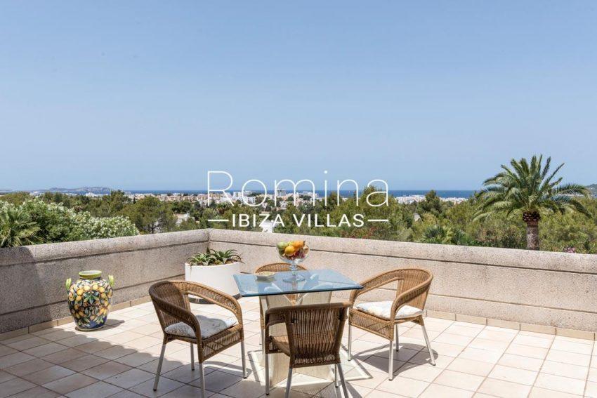 villa sommer ibiza-1upper terrace sea view
