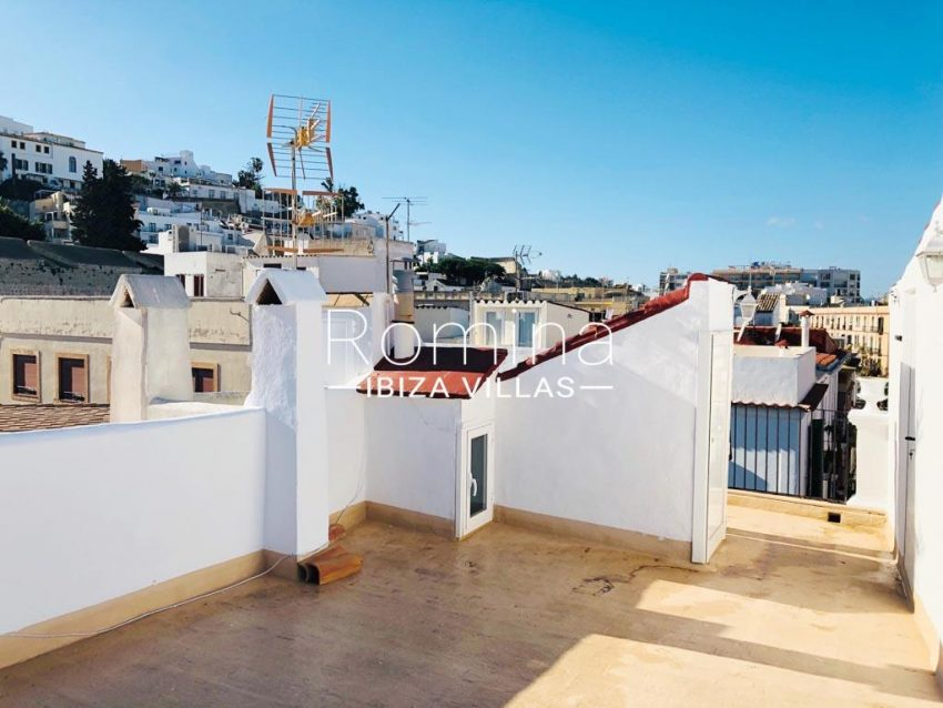 atico port ibiza-1rooftop terrace view2