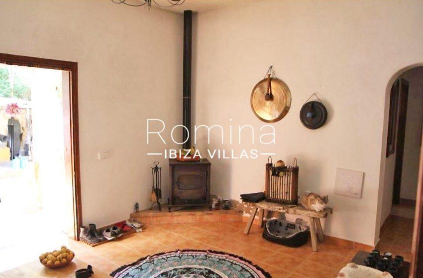 casa romero ibiza-3living room stove2