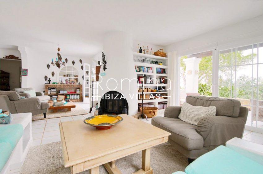 casa summer ibiza-3living room fireplace